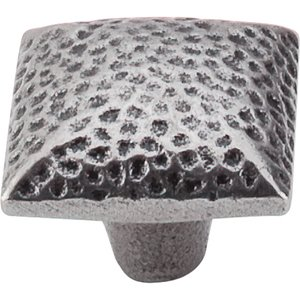 Top Knobs - Chateau - Square Iron Knob Dimpled in Cast Iron