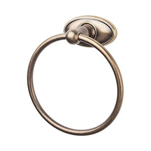 Top Knobs - Edwardian Bath - Towel Ring with Oval Backplate in German Bronze