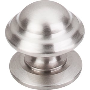 "Top Knobs - Asbury Collection - 1 1/4"" Empress Knob In Brushed Satin Nickel"
