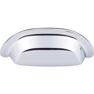 "Top Knobs - Aspen II - 3"" Centers Cup Pull in Polished Chrome"