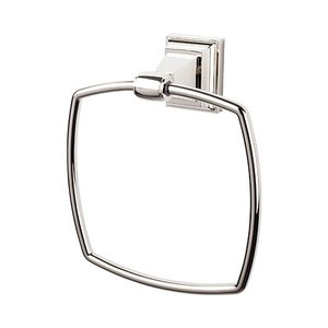 Top Knobs - Stratton - Towel Ring in Polished Nickel