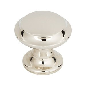 "Top Knobs - Grace - Barrow 1 1/4"" Diameter Knob in Polished Nickel"