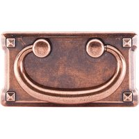"Top Knobs - Chateau - Mission Plate Handle 3"" Centers Old English Copper"