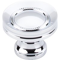 "Top Knobs - Somerset - Button Faced Knob 1 1/4"" - Polished Chrome"