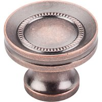 "Top Knobs - Somerset - Button Faced Knob 1 1/4"" - Antique Copper"