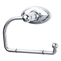 Top Knobs - Edwardian - Single Arm Tissue Holder with Oval Backplate in Polished Chrome
