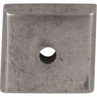 "Top Knobs - Aspen - Solid Bronze 7/8"" Square Backplate in Silicon Bronze Light"