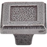 "Top Knobs - Britannia - 1 5 /16"" (33mm) Square Inset Knob in Cast Iron"