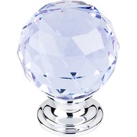 "Top Knobs - Crystal - 1 3/8"" Diameter Knob in Light Blue Crystal with Polished Chrome"
