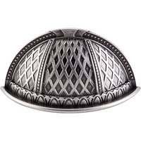 "Top Knobs - Trevi - Trevi - 2 1/2"" Centers Cup Pull in Pewter Antique"