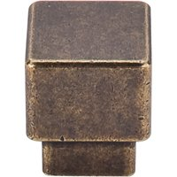 "Top Knobs - Sanctuary - 1"" (25mm) Tapered Square Knob in German Bronze"