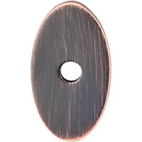 "Top Knobs - Mercer - 1 1/4"" x 3/4"" Small Oval Knob Backplate in Tuscan Bronze"